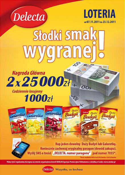 Delecta rozda 100 tys. złotych Konkurs 1320247212