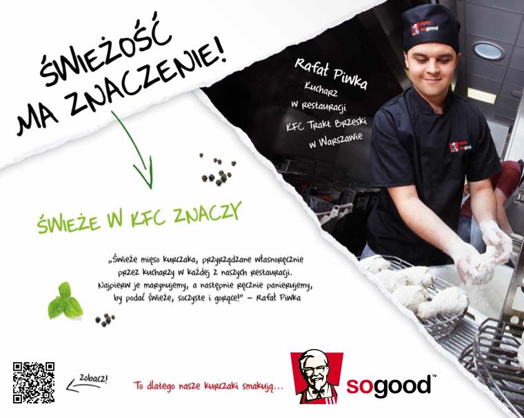 KFC: kody QR w restauracjach kierują do kuchni KFC 1325607586