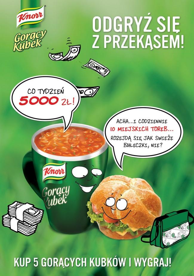 Knorr Gorący Kubek rozdaje miejskie torby (wideo) Unilever 1328619706