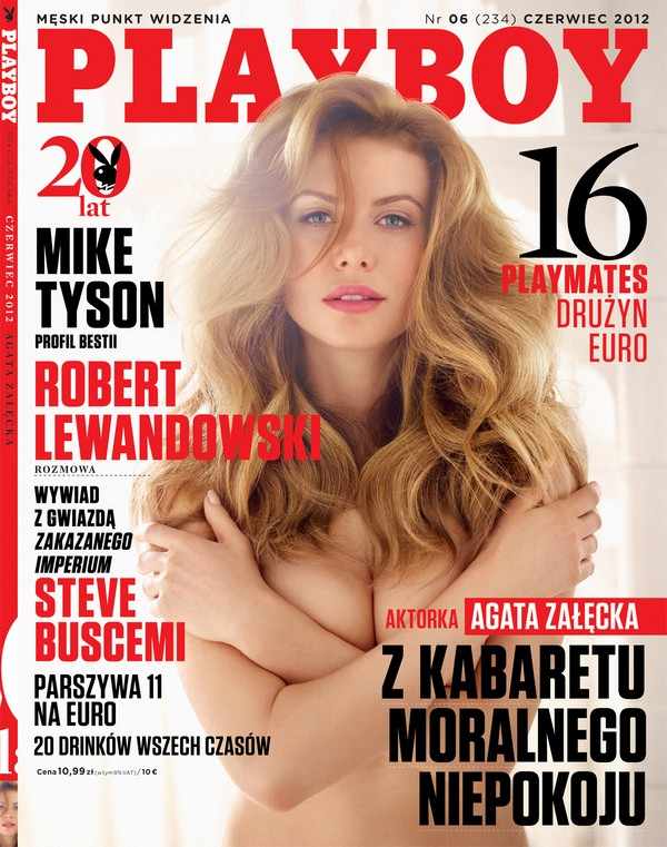 Czerwcowy Playboy z Agatą Załęcką na okładce Playboy 1338294798