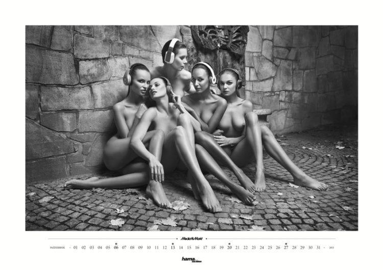 Pokojówki i rezydentki w nowym kalendarzu Media Markt Media Markt 1355083850