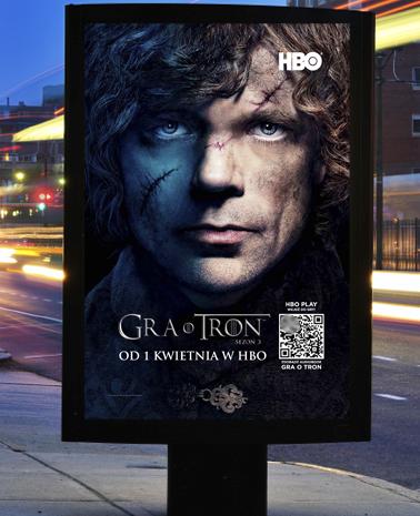 """Kampania promocyjna nowego sezonu serialu HBO """"Gra o tron"""". Pierwszy odcinek w HBO GO HBO GO 1363702745"""