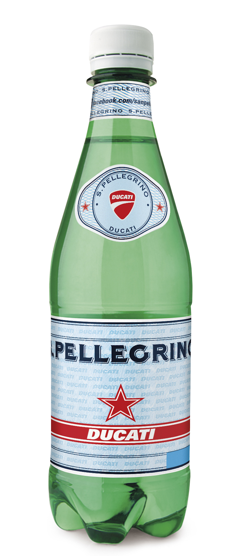 S.Pellegrino Ducati butelka