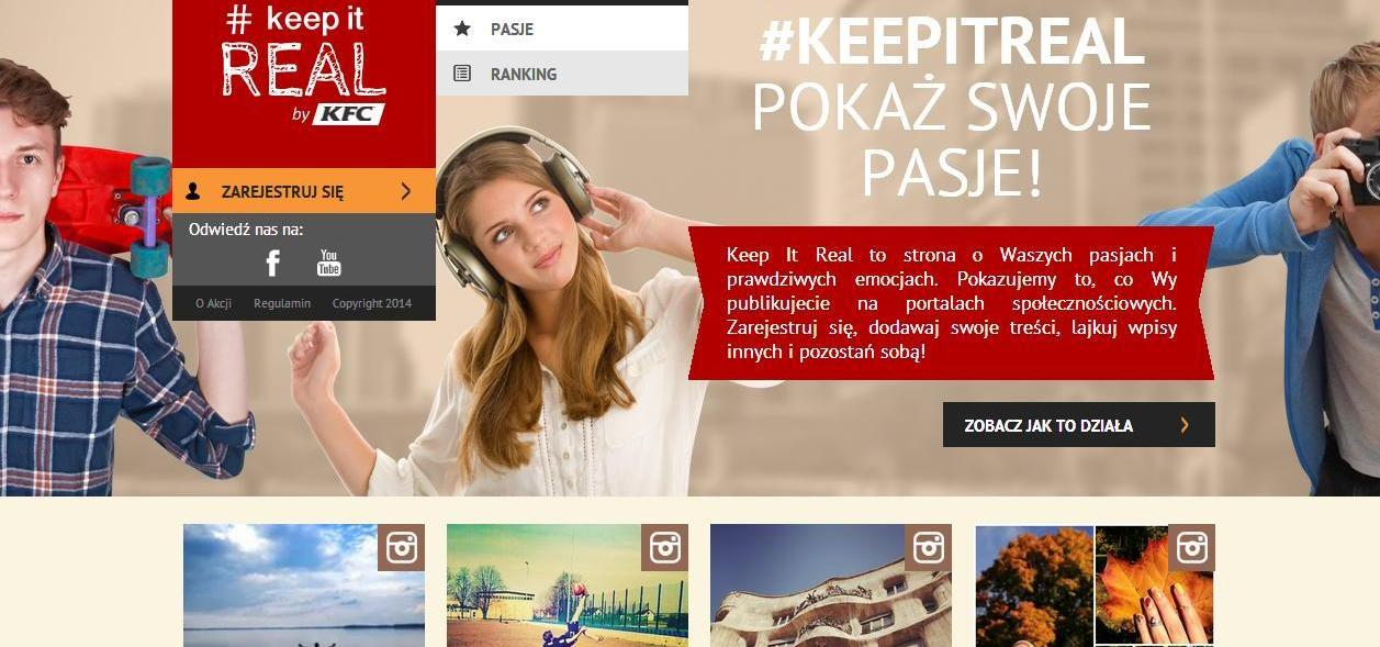 McCann Worldgroup dla KFC E-commerce Mediarun Com Keepitreal