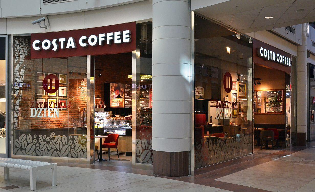 CHI Polska zmienia się w COSTA COFFEE POLSKA Rebranding Costa Coffee Kawiarnia