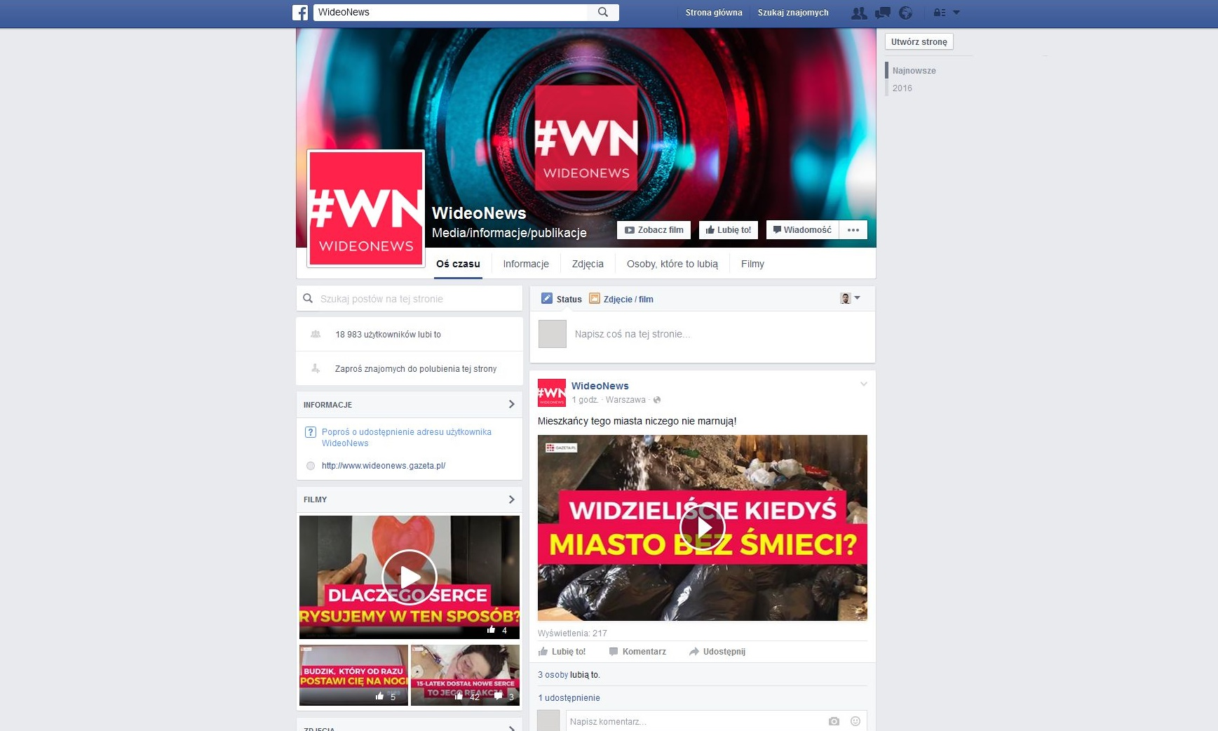 Gazeta.pl stawia na WideoNews Wideo WN fanpage crop