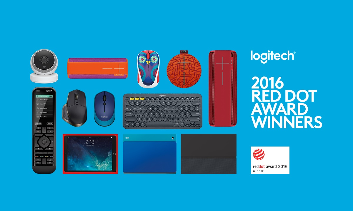 Logitech nagrodzony Red Dot Awards Logitech Red Dot Awards crop