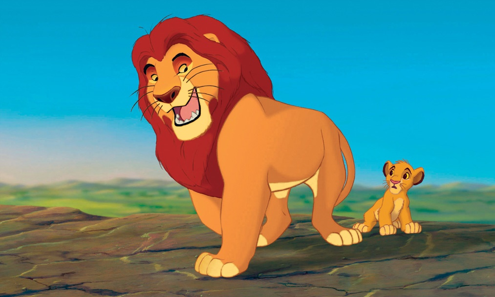 """""""THE LION KING"""" (L-R) Mufasa, Simba ©Disney Enterprises, Inc. All Rights Reserved."""