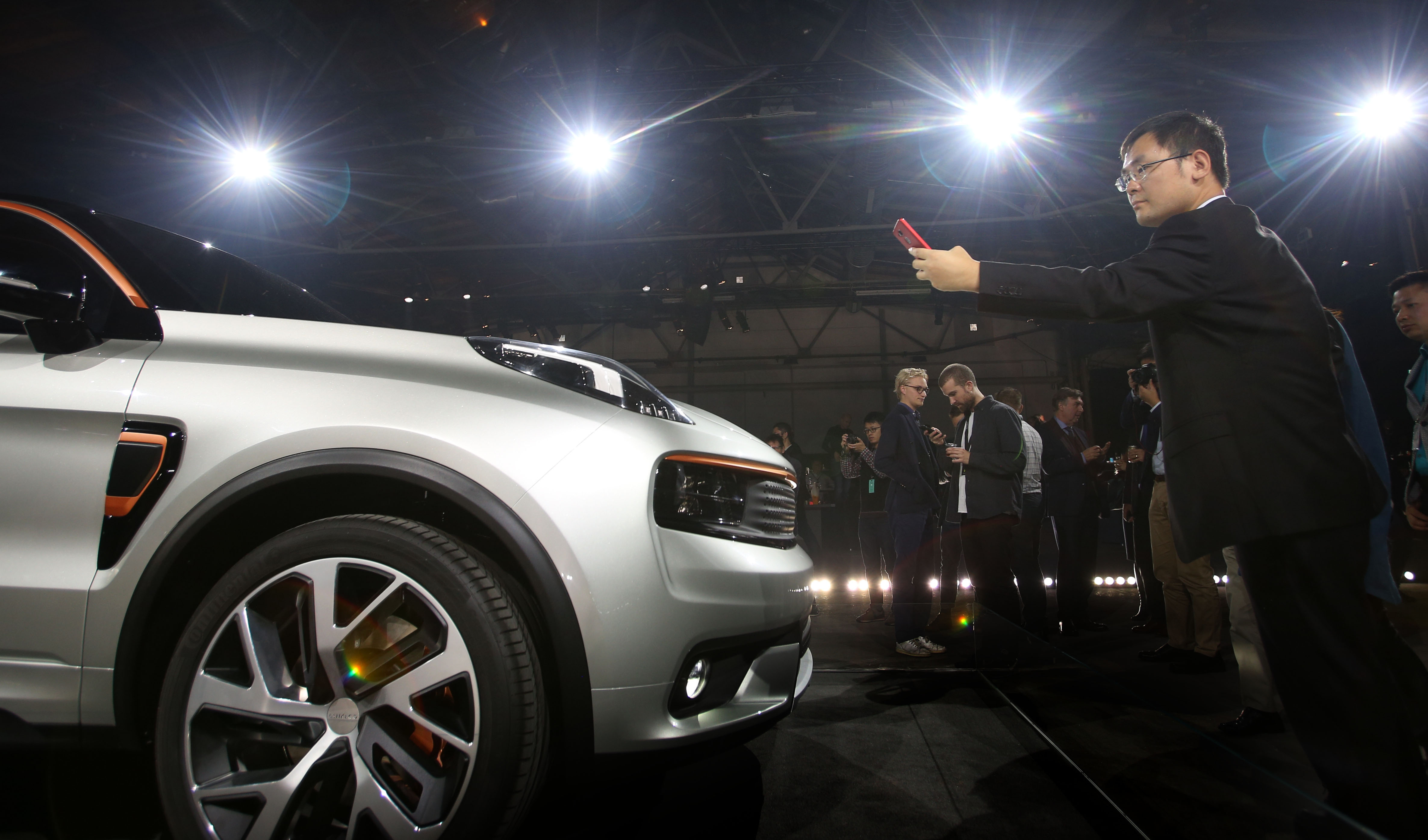 The global launch of the new LYNK & CO car in Berlin.20.October 2016.Photo David Cheskin.