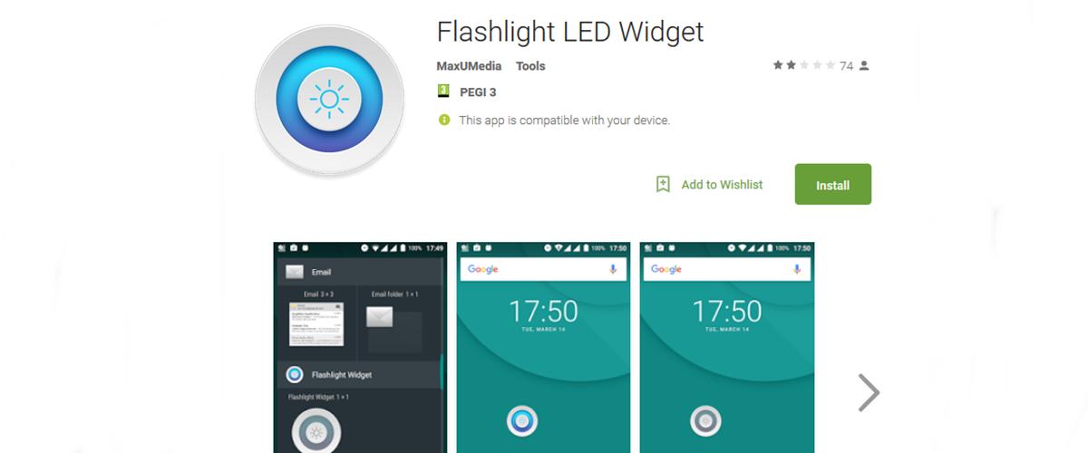 latarka na Androida