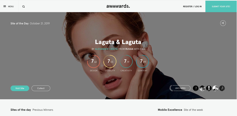 10 INSPIRUJĄCYCH stron internetowych web design awwwards