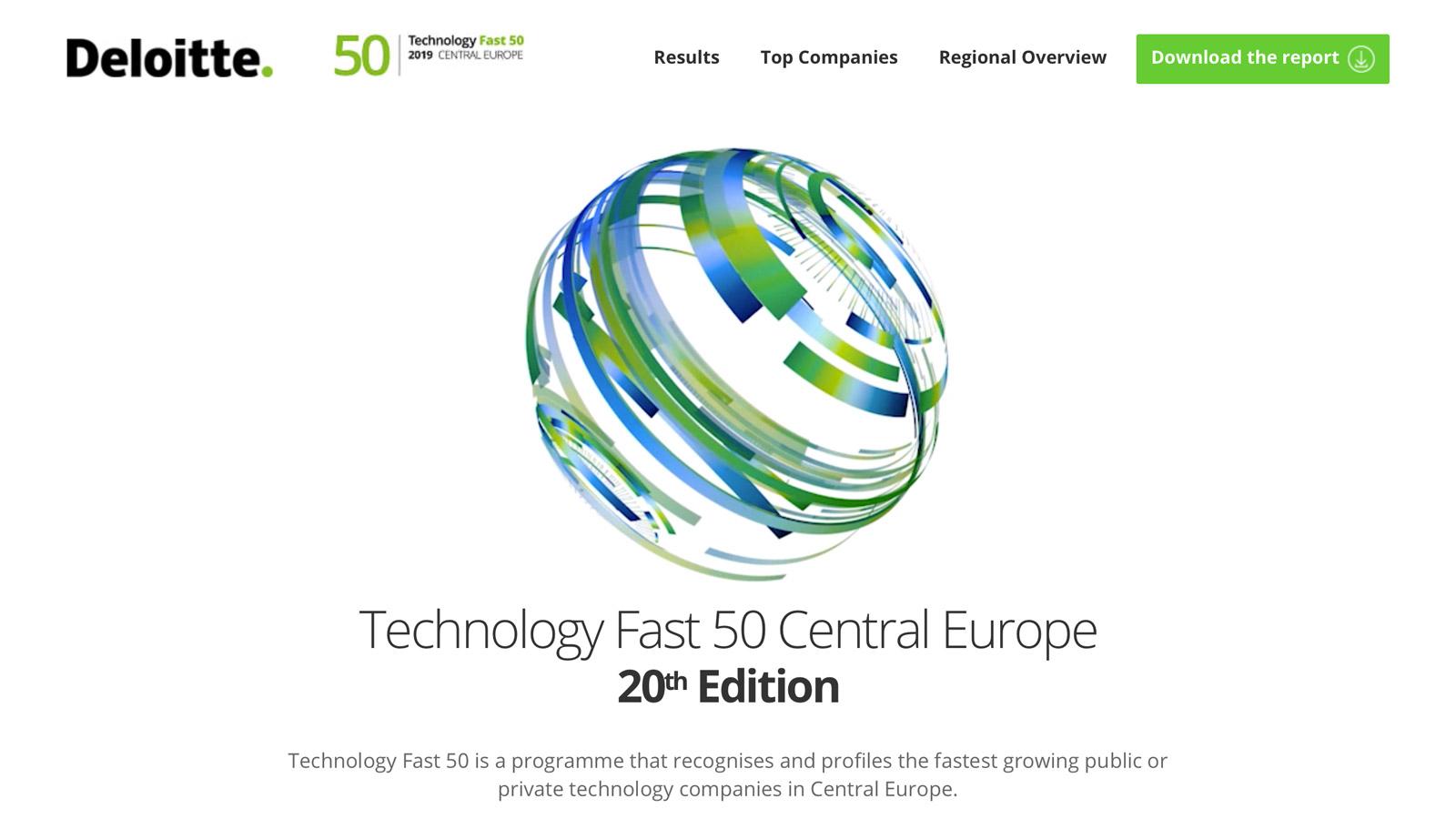 Ranking Deloitte Technology - POLSKA firma wyróżniona! Konkurs mediarun Deloitte Technology 50 www 2019
