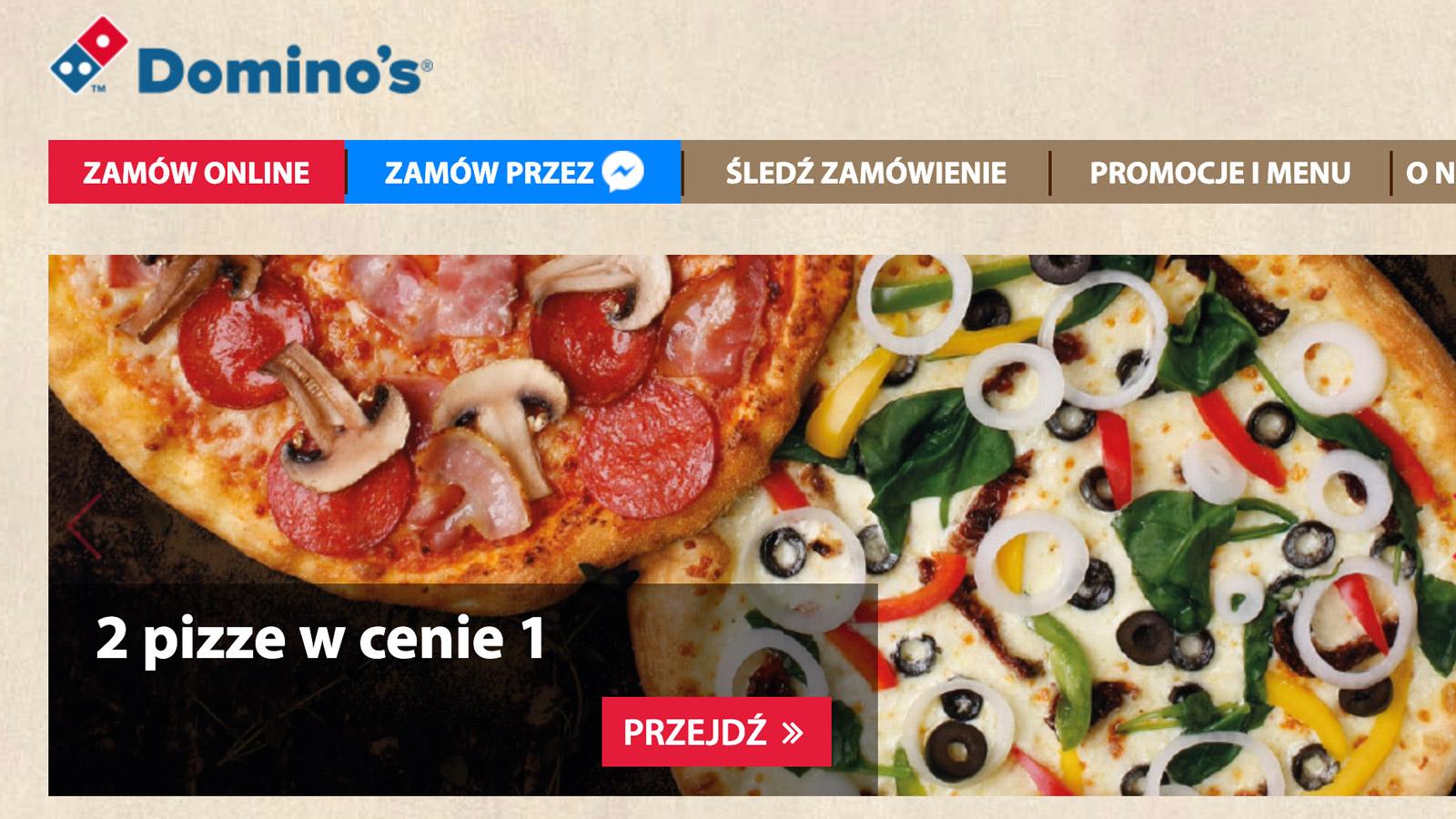 DOMINO's ze sposobem na PIZZA HUT i PAPA JOHN'S strategia mediarun domino pizza www 2019