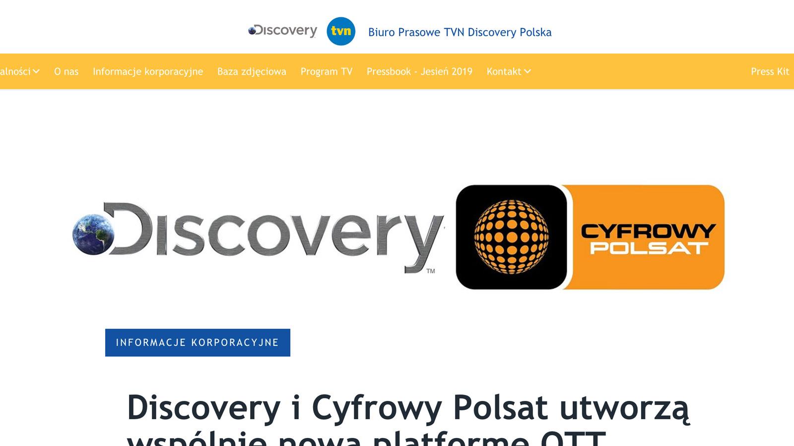 TVN i POLSAT łączą siły i tworzą nową platformę POLSAT mediarun tvn polsat platforma www 2019