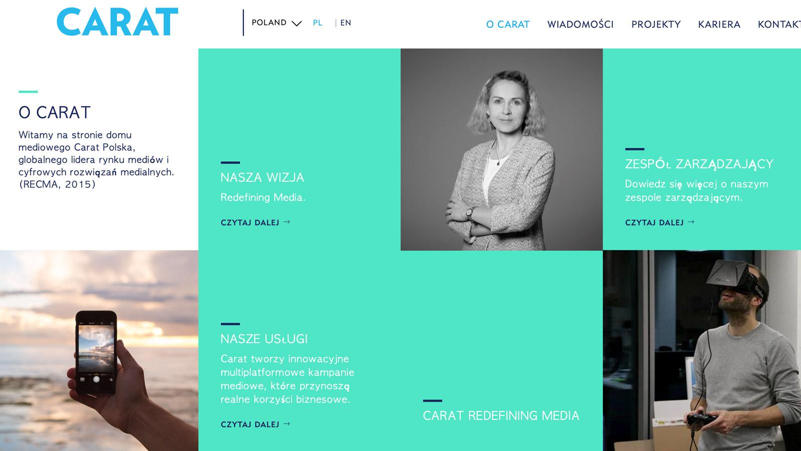 Dom mediowy CARAT podjął nową współpracę Carat mediarun carat www 2019