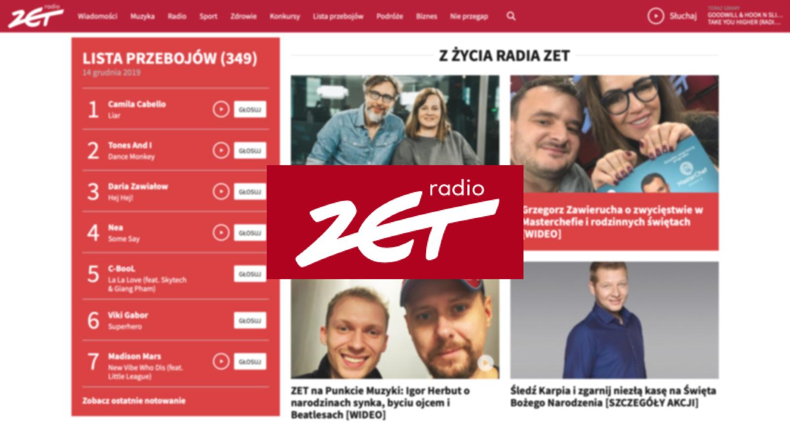 RadioZet.pl na pierwszym miejscu w rankingu serwisów Ranking mediarun radiozet www 2019