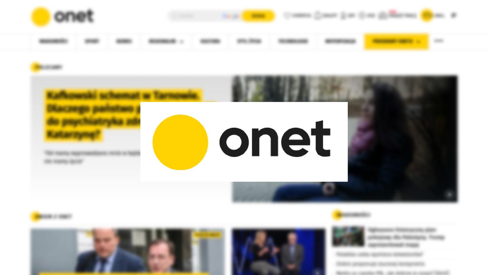 ONET.PL z nowym szefem Strony Głównej Onet mediarun onet www 2020