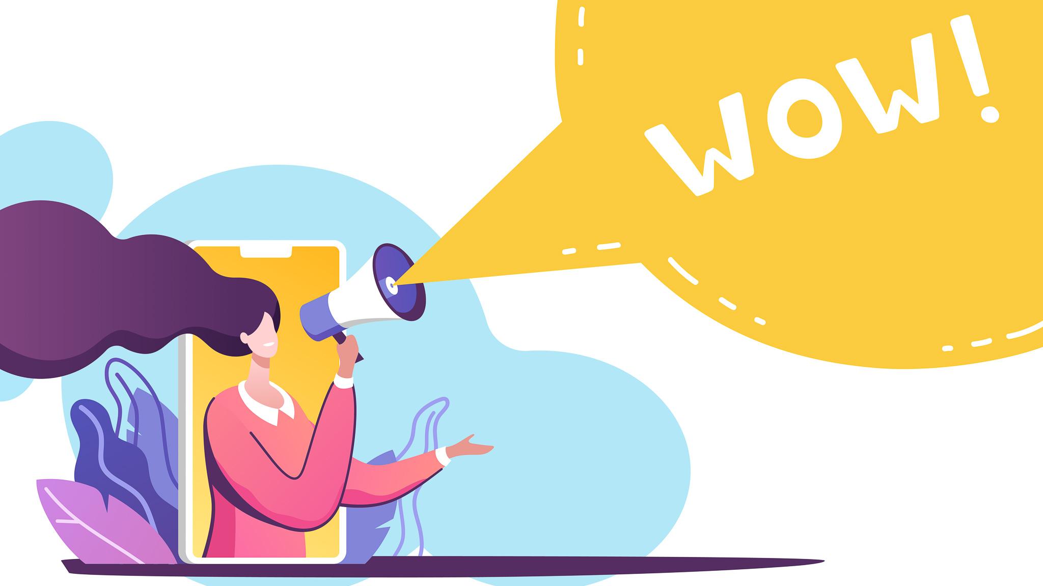 5 trendów marketingowych – Co wpłynie na biznes w 2020? AI MEDIARUN Grafika Kobieta WOW 2020 v1