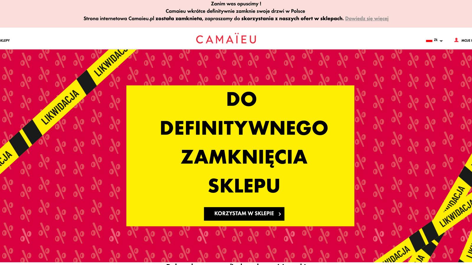 Francuska marka odzieżowa wycofuje się z polskiego rynku handel mediarun likwidacja sklepu Camaieu 2020