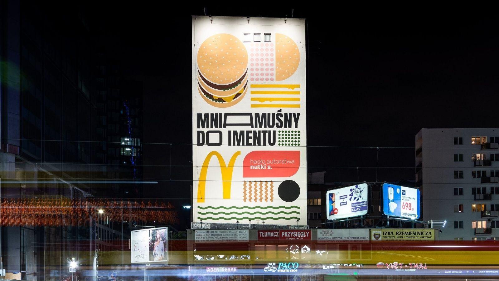Zaskakujący mural McDonald's w stolicy! McDonald's mediarun mural mcdonalds