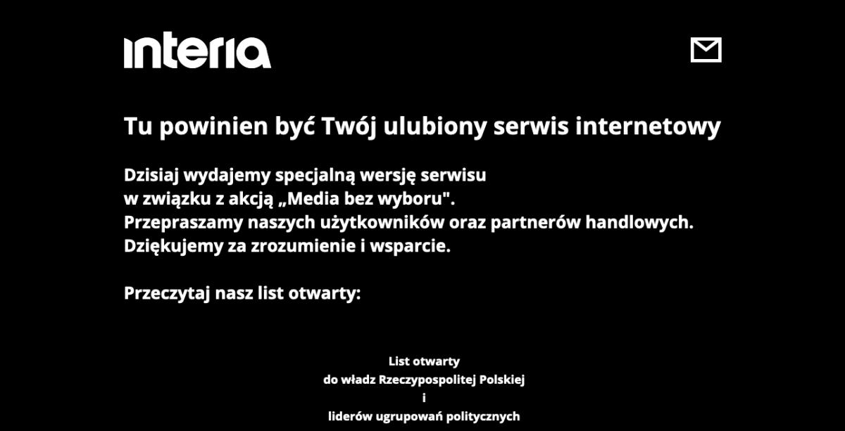 MEDIA BEZ WYBORU media bez wyboru interia