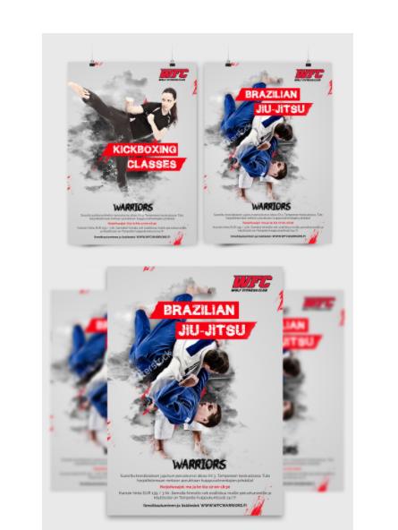 Plakaty które mogą inspirować Design Poster designfor Wolf Fitness Club.