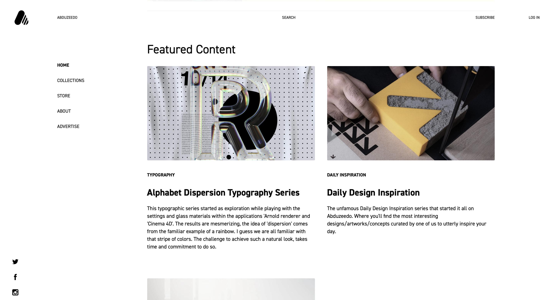 10 INSPIRUJĄCYCH stron internetowych Design abduzeedo