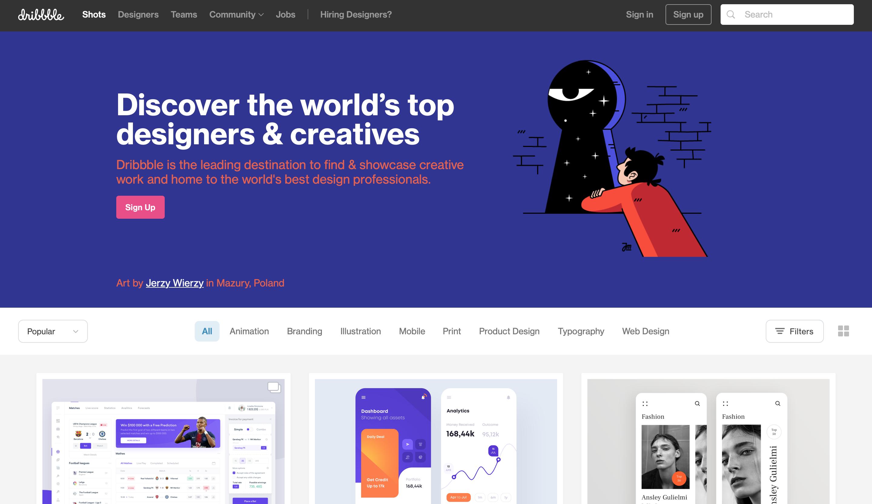 10 INSPIRUJĄCYCH stron internetowych Design dribbble