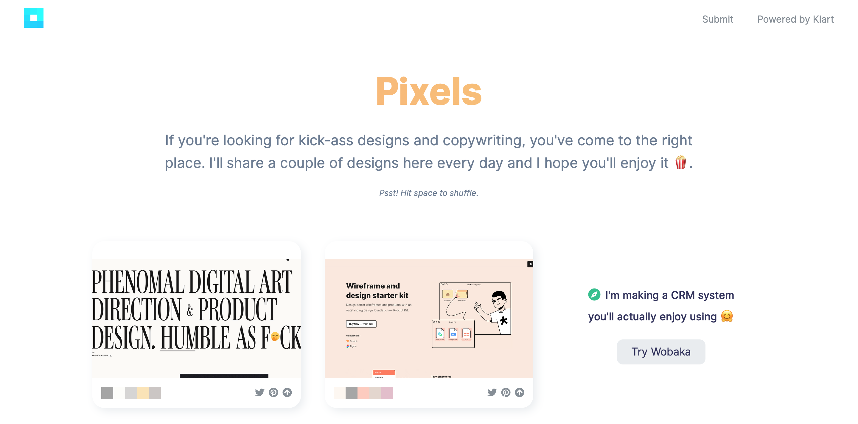 10 INSPIRUJĄCYCH stron internetowych Design klart