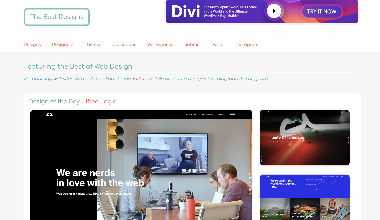 10 INSPIRUJĄCYCH stron internetowych Design thebestdesigns