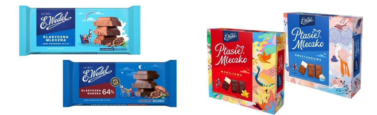 Klasyka E.Wedla w nowym wydaniu Branding medairun wedel packshots
