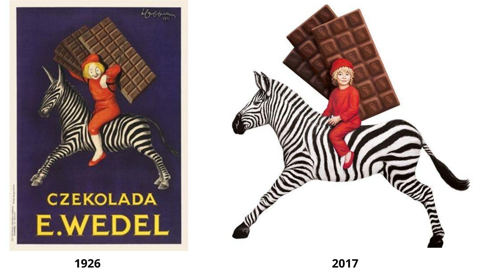Klasyka E.Wedla w nowym wydaniu Branding mediarun wedel chlopiec
